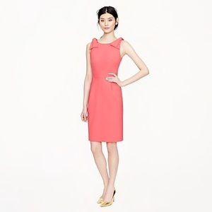J Crew Origami Bow Pink Midi Dress
